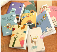 Wholesale Cute cartoon animal K Mini note book Note paper Korea stationery Car line Book diary notebook Office School Supplies