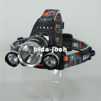 Wholesale x CREE XM L XML T6 LED Lumens Rechargeable Headlamp Headlight Light Head lamp Charger
