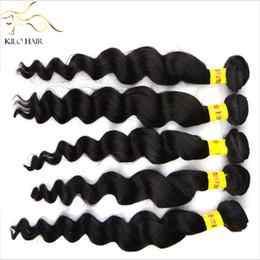 """Remi tejido de cabello humano online-Extensiones de cabello virginales brasileñas Remy 100% armadura de cabello humano Trama doble Remi pelo ondas sueltas 400g 12 """"14"""" 16 """"18"""" 20 """"22"""" 24 """"26"""" 28 """""""