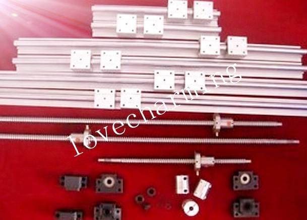 1 anti backlash ballscrew ball screw 2505-1450mm-C7+1set BK15 BF15 bearing mount