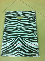 Wholesale 25 cm Large Plastic Bags With Handle Shopping Packing Bags Zebra Pattern Clothes Gift Bag For