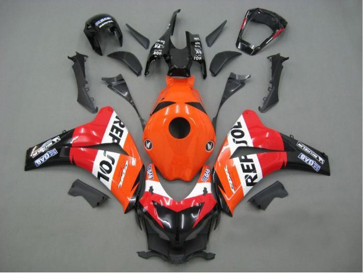射出フェアリングキット08 09 Honda CBR1000RR CBR 1000 RR 2008 2009 CBR 1000RRレポールレッドフェアリックボディワーク+ギフトHM56
