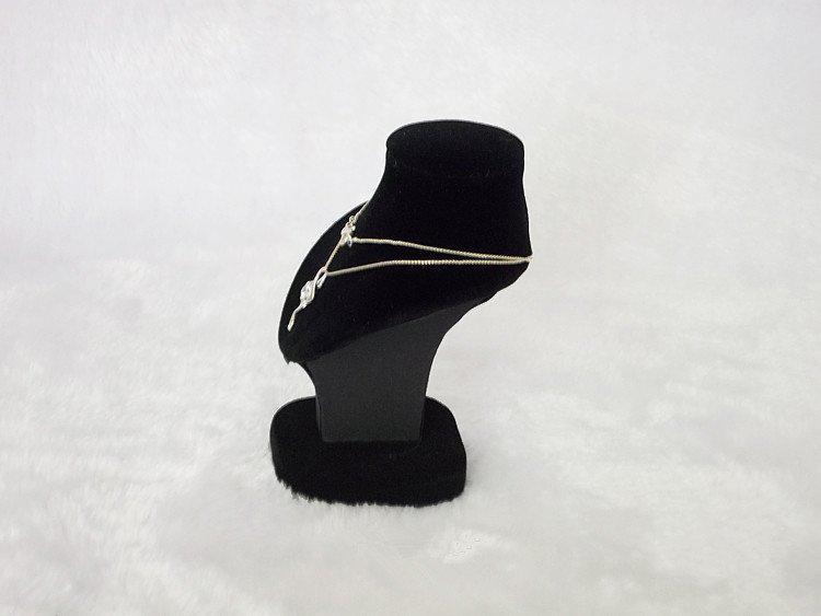 Promotion jewelry display mini black velvt palm portrait bust torso wholesale necklace pendant holder mannequin free ship
