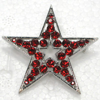 12pcs lot Wholesale Crystal Rhinestone Star Brooches Fashion...