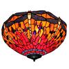 Tiffany Glass Ceiling Lights American country rustic restaurant bedroom den Dragonfly Light DIA 60 CM H 25 CM