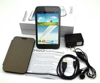 Wholesale Mtk6575 Gps - Android 4.2 GPS WIFI MTK6575 Quad Band Dual SIM Dual Core F7100 3G Smart Mobile Cell Phone