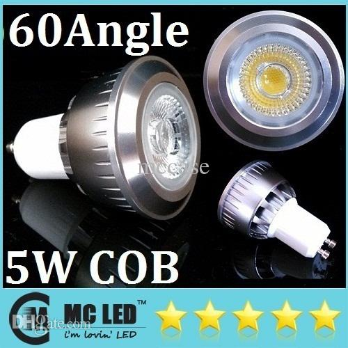 COB CREE GU10 / E27 / MR16 5W Led Bombillas 400 lúmenes 60 grados de ángulo Warm / Cool White Led Spot Downlight 110-240 V + 3 años de garantía + ROHS CE