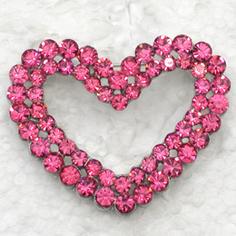 Wholesale Romance Brooch - 12pcs lot Wholesale Crystal Rhinestone lovely Heart-shaped Romance Bridal Wedding Pin Brooch jewelry gift Valentine's day C139