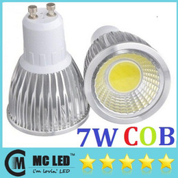 Wholesale Mr16 Lumens - 7W Led GU10 Light Bulbs 120 Degree Angle 600 Lumens Warm Cool White Led E27 E14 MR16 Spot Downlights 110-240V +CE ROHS + Warranty 2 Years
