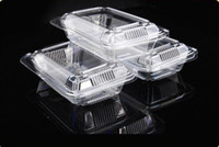 Wholesale Wholesale Clear Cup Cake Boxes - 500pcs x Clear Plastic Cupcake Muffin Dome Holder Cases Boxes Cake Cups, Sushi box, Fruit box Free Shipping By Fedex