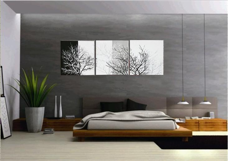Compre hecho a mano 3 piezas negro blanco contempor neo for Decoracion del hogar contemporaneo