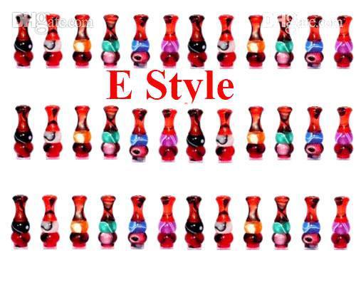 E-cig 510 theread candy Drip Tip EGO Cowboy Metal Drip Tips Boccaglio 510 Threading Sigaretta elettronica EGO Acrilico Candy Drip Tips