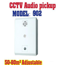 Wholesale Sound Cctv Cameras - 902 Square Sensitivity Preamplifier 20-60m2 Adjustable Mic Audio CCTV Microphone Sound Monitor For CCTV Camera
