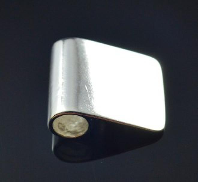 the aperture:6*18mm silver plated Xiaoping clasp pendant glue on bails, glue on bail for