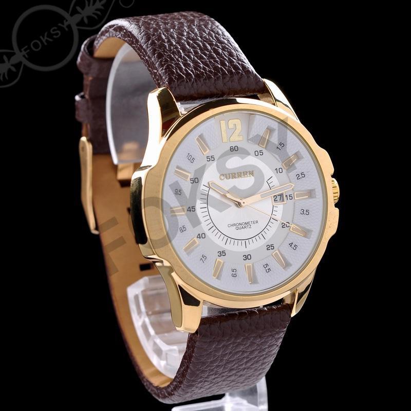 高級メンズ女性茶色のタキメーター日付レザースポーツクォーツ腕時計ファッションスイスデザインドロップ船