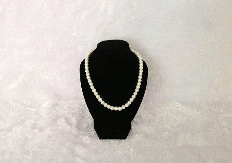 Présentoir à bijoux Stand Mannequins Black Velvet 18cm Hauteur Petit Buste En Gros