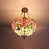 Tiffany glass chandelier in the living room European-style garden decorative lights bedroom lamp butterfly scales DIA 41 CM H 56 CM
