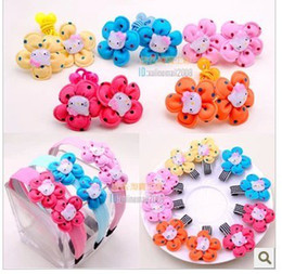 Wholesale Hair Jewels Wholesale - Children's Hairpin Jewel Centered Head Barrettes Hair Sticks Hairbands Baby Girl Lady Jewelry Center Hair Accessories Clips 50 pcs lot 830