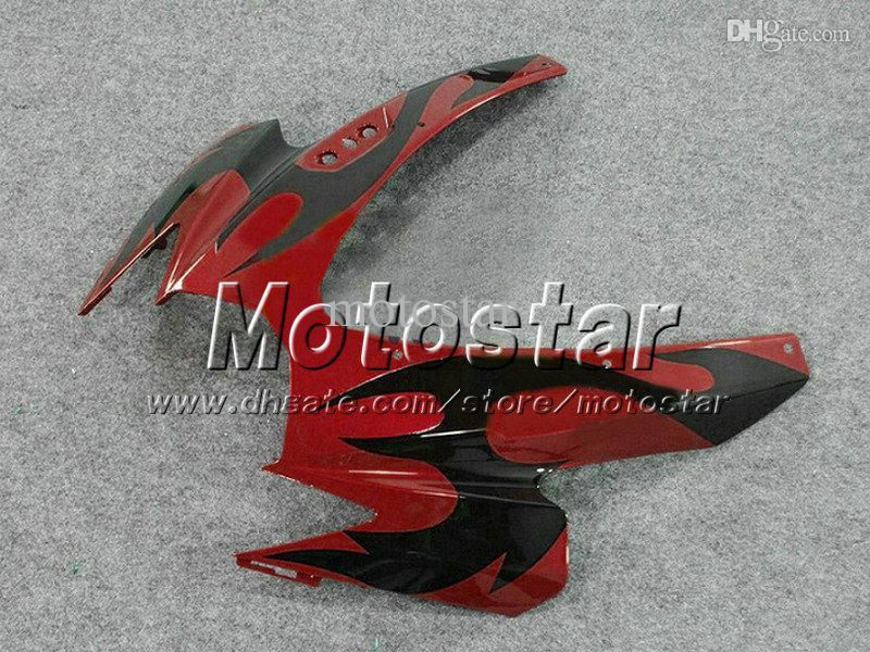 Custom Fairing Kit för injektion Suzuki 2006 2007 GSX R600 R750 K6 GSXR600 / 750 06 07 Kroppsreparationsfeedningar