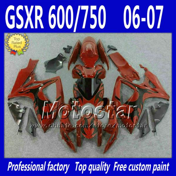 Custom fairing kit for Injection SUZUKI 2006 2007 GSX R600 R750 K6 GSXR600/750 06 07 body repair fairings set