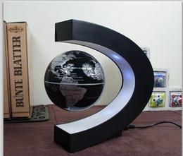 Levitation Floating Globe Canada - Novelty New Design Magnetic Suspension Globe with LED Light Magnetic Levitation Floating Globe for Home Table Decoration Best Gifts