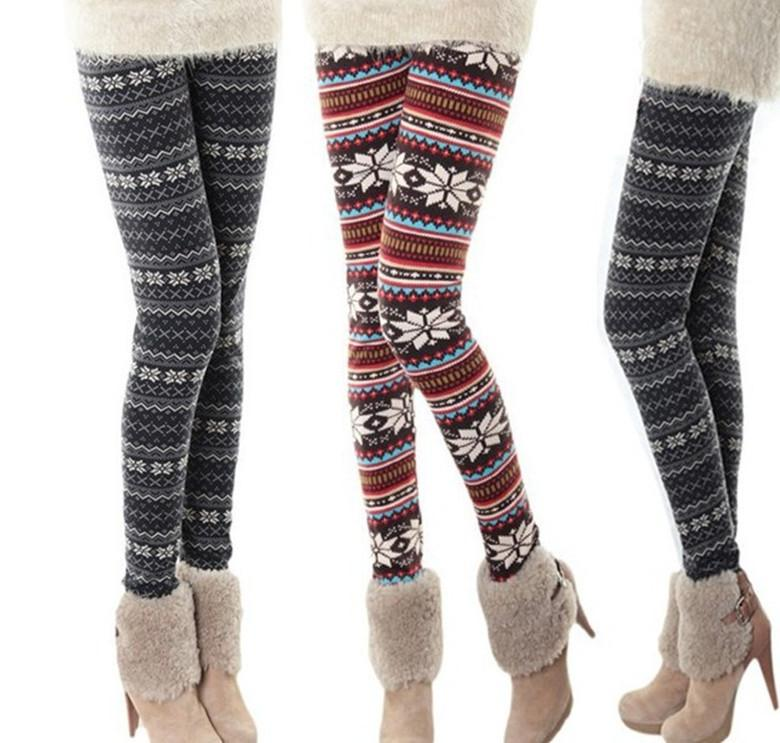 2018 hot selling new 2013 korean thick warm snowflakes winter leggings women fashion christmas tights girls leggings plus size from first1seller