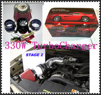 Wholesale Electric Wheels Kit - Turbo-5000 Electric Supercharger 330W Electric turbocharger kit Metal wheel (two Motor ) have in stock Free Shipping
