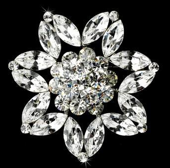 Brillante cristal de marquesa de cristal grande broche boda fiesta de baile accesorio de alfiler