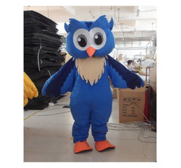 Wholesale New Style Professional Dresses - Professional New Style Big Blue Owl Mascot Costume Fancy Dress Adult Size