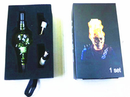 Atomizer Box Set Canada - Skull Wax Glass Globe Tank Set Dry Herb Vaporizer Clearomizer Atomizer with Retail Box Two Extra Coil Heads for Electronic Cigaratte Kit