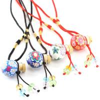 Wholesale Fimo Christmas - Creative MINI Fimo Clay Perfume Bottle Necklace Pendant Premiums Gift 10pcs lot DC646