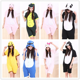 Wholesale Novelty Sleepwear - Cartoon Animal Unisex Adult Onesies Summer Pajamas Kigurumi Jumpsuit Hoodies Sleepwear Cosplay For Adults Welcome Wholesale Order