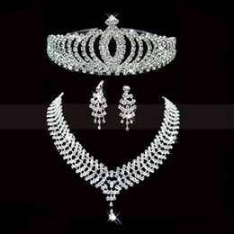 Wholesale Jewelry Setting Types - Bridal Accessories Dainty Wedding Jewelry Sets With Sparkling Rhinestones Wedding Accessories Tiaras and Hair Wedding Bridal Accessories 001