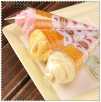 Wholesale Cake Towel Birthday Baby - 2015 New fashion Mini ice cream cake towel 20*20cm Square Towel Cake 100% cotton Wedding Birthday Favors gifs free shipping