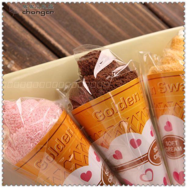 2015 Yeni moda Mini dondurma kek havlu 20 * 20 cm Kare Havlu Kek% 100% pamuk Düğün Doğum Günü Iyilik gifler ücretsiz kargo