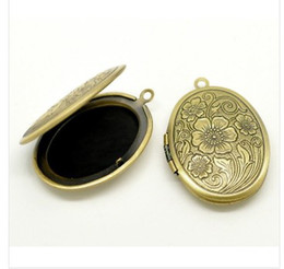 Wholesale Bronze Oval Frame Picture - Free Shipping Bronze Tone Picture  Photo Frame Oval Locket Pendants 33x24mm Fit22.5x16mm