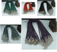 Wholesale Velvet Diy - MIC 200 Pcs Mixed Colour Soft Velvet Cord Necklaces DIY Jewelry