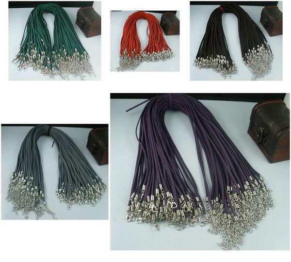 MIC 200 Pcs Mixed Colour Soft Velvet Cord Necklaces DIY Jewelry