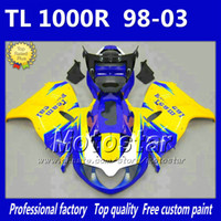 suzuki carenado tl  al por mayor-7Gifts ABS azul amarillo negro carenados de la motocicleta para SUZUKI TL1000R 98-03 freeship carenado kit TL 1000R 1998 1999 2000-2003 carenado del cuerpo