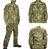 Wholesale Uniform Tacs - BDU FG A-TACS Camouflage Combat Training Uniform sets Clothing + Pants