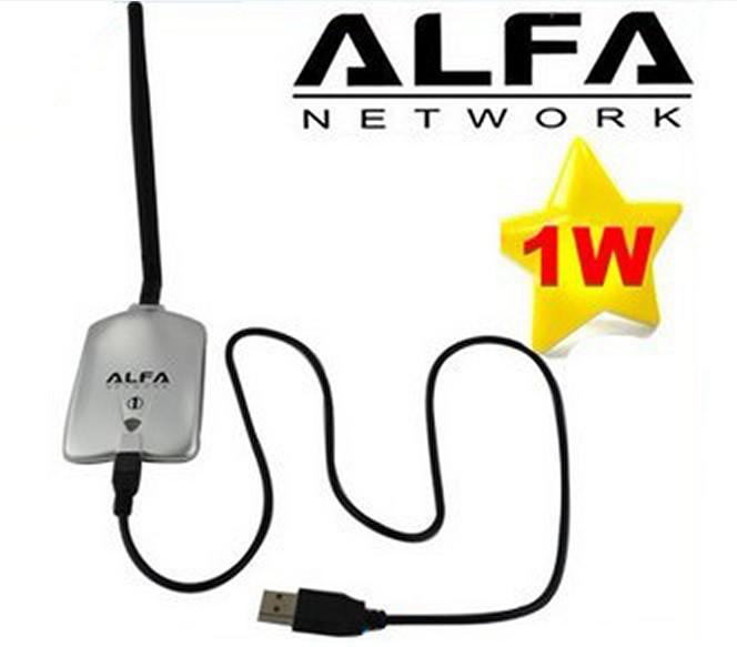 Paquete de venta al por menor 1000mW Alfa Network AWUS036H Adaptador de adaptador inalámbrico WiFi G N WiFi 5dBi Antena RTL3070L