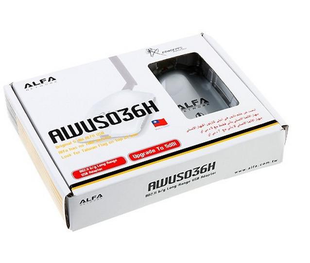 Retail Package 1000mW Alfa Network AWUS036H USB Wireless G N WiFi Adapter Adaptor 5dBi Antenna RTL3070L