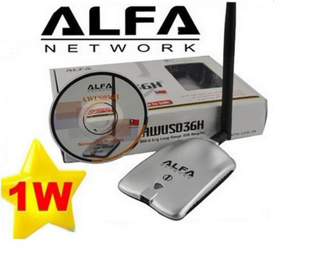 小売パッケージ1000MW ALFAネットワークAWUS036H USB Wireless G N WiFiアダプタアダプタ5DBIアンテナRTL3070L