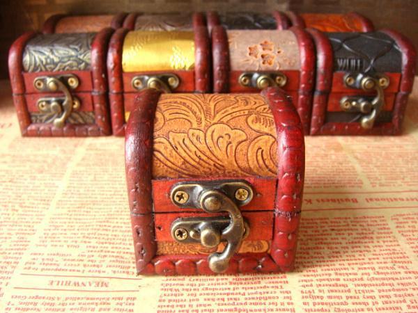 ビンテージジュエリーボックスウッドジュエリーボックス、結婚指輪/イヤリングディスプレイケース化粧品ジュエリーボックスと包装