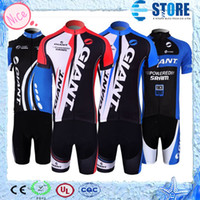 Wholesale Wholesalers Cycling Clothes - Hot Selling!GIANT Cycling Jersey,4 kinds bike jersey Cycling Clothing sets Giant Style Jersey M