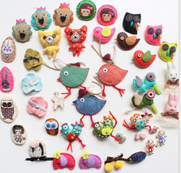 BABY Pins Cartoon girl brooch handmade cloth Brooches mixing stlyle