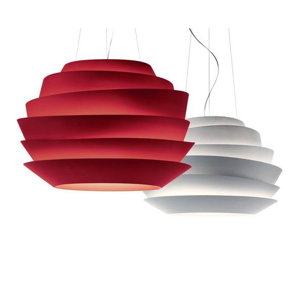 foscarini le soleil wave red white rose suspension pendant lamp dia 43cm living room bar hotel. Black Bedroom Furniture Sets. Home Design Ideas