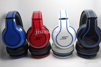 Wholesale Sms Street Dj Headphones - High Quality 50 cent headphones SMS Audio Street by 50 Headphones Over Ear DJ Headphones with MIC