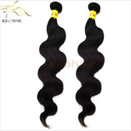 Wholesale 32inch Virgin Peruvian Hair - Virgin Peruvian Hair Bundles Weft 2pcs lot Full Head Hair for Black Women Body Wave Hair Weave 10inch to 32inch Natural Hair