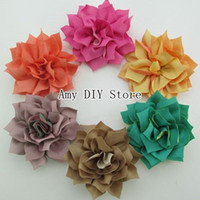 Wholesale Trial Order Bow - Trial order DIY Flowers Fabric Flowers,wholesale baby girls hair accessories,christmas photography props-500pcs - Free Shipping HH042